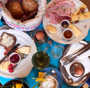 Frühstück in der Palette
